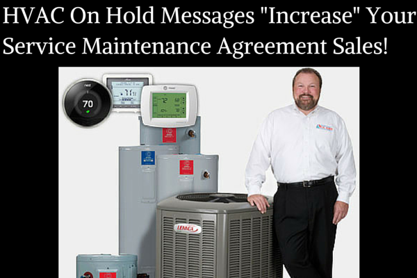 hvac on hold message advertising